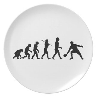 Deportes de la diversión de la evolución de los te plato de cena