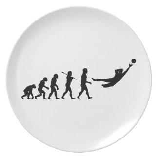 Deportes de la diversión de la evolución del fútbo platos para fiestas