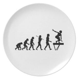 Deportes de la diversión de la evolución del haz d plato para fiesta