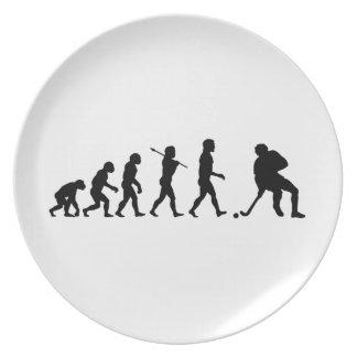 Deportes de la diversión de la evolución del hocke platos