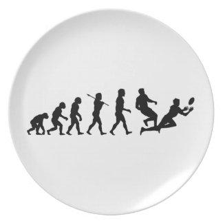 Deportes de la diversión de la evolución del rugbi plato