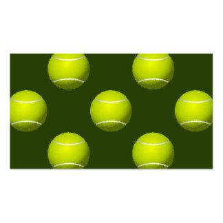 Deportes de la pelota de tenis tarjetas de visita