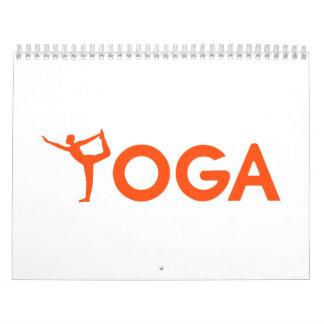 Deportes de la yoga calendario