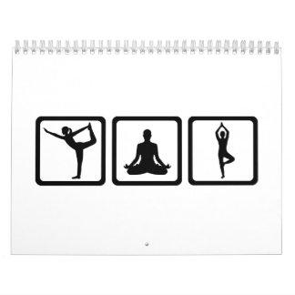 Deportes de la yoga calendarios de pared