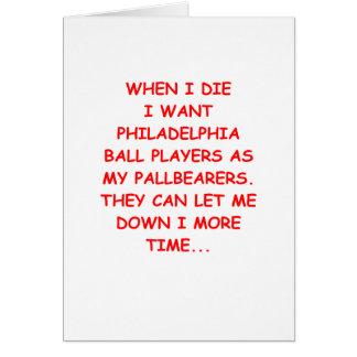 deportes de Philadelphia Tarjeta De Felicitación