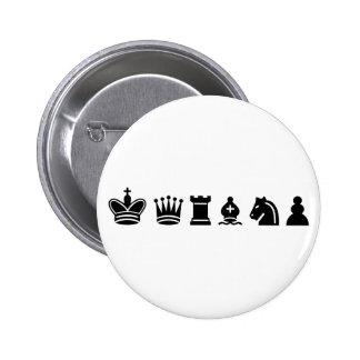 Deportes del ajedrez pin redondo 5 cm