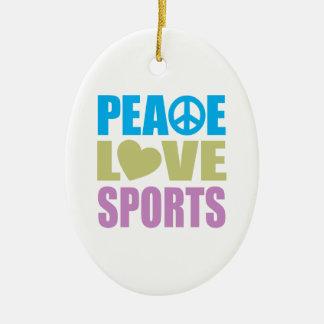 Deportes del amor de la paz ornamento de reyes magos