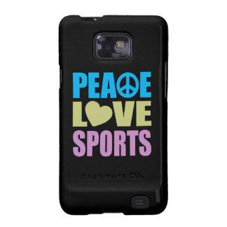 Deportes del amor de la paz samsung galaxy s2 funda