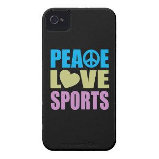 Deportes del amor de la paz Case-Mate iPhone 4 carcasas