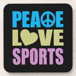 Deportes del amor de la paz posavaso