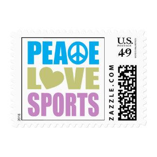 Deportes del amor de la paz sellos