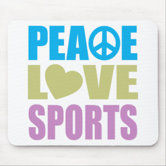Deportes del amor de la paz alfombrilla de ratón