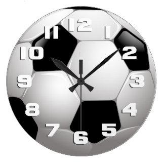 Deportes del balón de fútbol reloj redondo grande