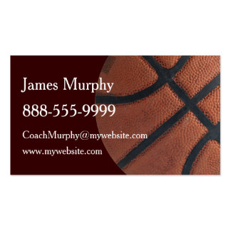 Deportes del baloncesto tarjetas de visita