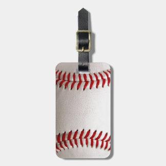 Deportes del béisbol etiqueta para maleta