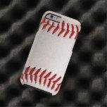 Deportes del béisbol funda de iPhone 6 tough