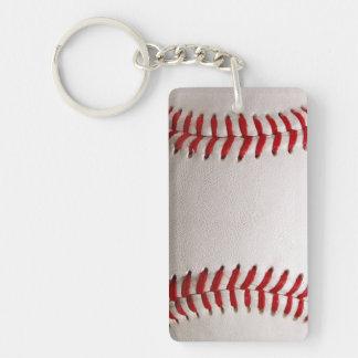 Deportes del béisbol llavero rectangular acrílico a doble cara