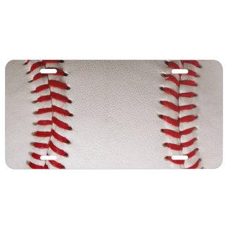 Deportes del béisbol placa de matrícula