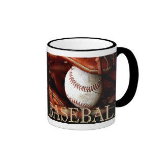 Deportes del béisbol taza de dos colores