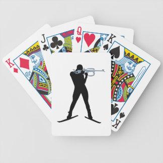 Deportes del Biathlon Baraja Cartas De Poker