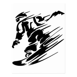 Deportes del extremo de la snowboard postal