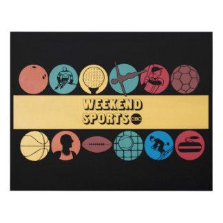 Deportes del fin de semana - gráfico retro del cuadro