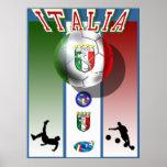 Deportes del fútbol del mundial del calcio de las  poster