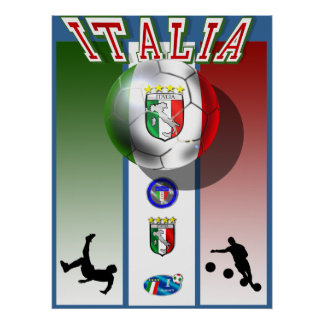 Deportes del fútbol del mundial del calcio de las  póster