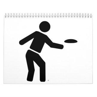 Deportes del golf del disco calendarios