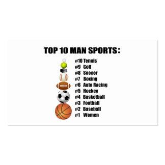 Deportes del hombre del top 10 plantilla de tarjeta personal