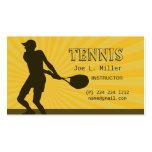 Deportes del instructor del jugador de tenis tarjeta de visita