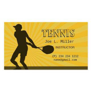 Deportes del instructor del jugador de tenis tarjetas de visita