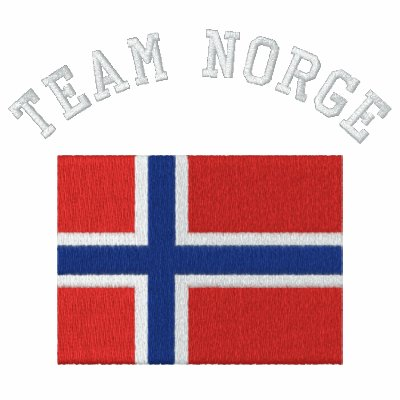 Deportes del noruego de NORGE del EQUIPO Polo Con Bordado Manga Larga