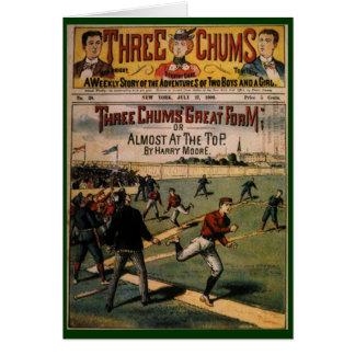 Deportes del vintage, arte de la portada de felicitacion