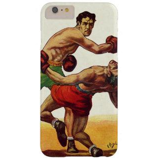 Deportes del vintage, boxeadores en una lucha del funda barely there iPhone 6 plus