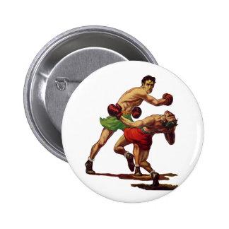 Deportes del vintage boxeadores que encajonan luc pins