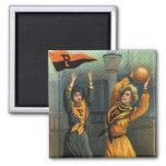 Deportes del vintage, equipos del baloncesto de la imán para frigorifico