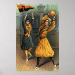 Deportes del vintage, equipos del baloncesto de la poster