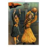 Deportes del vintage, equipos del baloncesto de la tarjeta