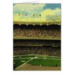 Deportes del vintage, estadio de béisbol con las b felicitaciones