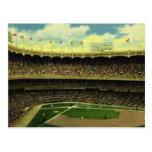 Deportes del vintage, estadio de béisbol con las b tarjeta postal
