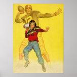 Deportes del vintage, estratega futuro del fútbol póster