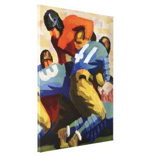 Deportes del vintage futbolista impresiones de lienzo