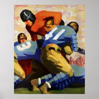 Deportes del vintage, futbolista posters