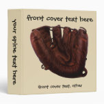 Deportes del vintage, guante de béisbol de cuero carpeta 3,8 cm