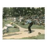 Deportes del vintage, juego de béisbol