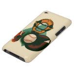 Deportes del vintage, jugador de béisbol, colector barely there iPod cárcasas