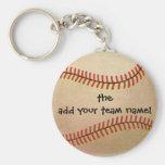 Deportes del vintage, jugador de béisbol, colector llaveros
