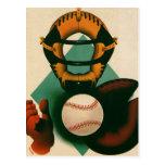 Deportes del vintage, jugador de béisbol, colector postales