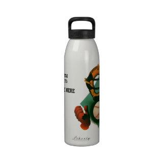 Deportes del vintage, jugador de béisbol, el colec botella de agua